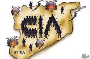syria map with cia
