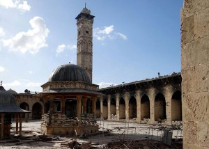 Aleppo's iconic Umayyad Mosque