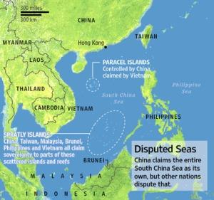 china, south island sea map