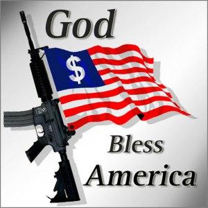 usa, good bless america with gun & dollar!