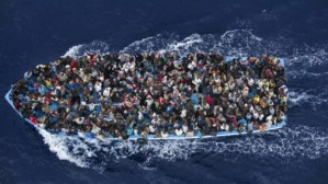 refugees in boat