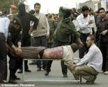 iran, lashing workers in public