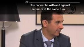 syria, assad, u cn't be with & against terrorism
