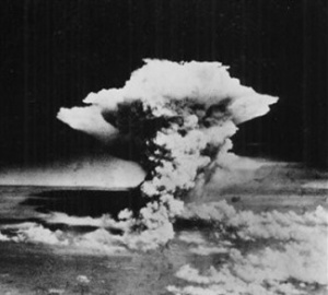 "In this handout picture released by the U.S. Army, a mushroom cloud billows about one hour after a nuclear bomb was detonated above Hiroshima, Japan on Aug. 6, 1945. Japanese officials say a 93-year-old Japanese man has become the first person certified as a survivor of both U.S. atomic bombings at the end of World War II. City officials said Tsutomu Yamaguchi had already been a certified ""hibakusha,"" or radiation survivor, of the Aug. 9, 1945, atomic bombing in Nagasaki, but has now been confirmed as surviving the attack on Hiroshima three days earlier as well. (AP Photo/U.S. Army via Hiroshima Peace Memorial Museum, HO) ** NO SALES, CREDIT MANDATORY **"
