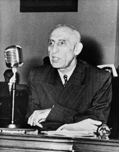 Picture released in the early 50s of Iranian Prime minister Mohammed Mossadegh giving a speech. (Photo credit should read STRINGER/AFP/Getty Images)